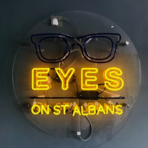 EYES on St Albans sign